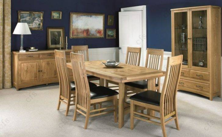 Bentley Designs Turner Oak Dining Table Seater Centre Extending