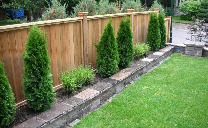 Best Ideas Landscaping Along Fence Pinterest Privacy