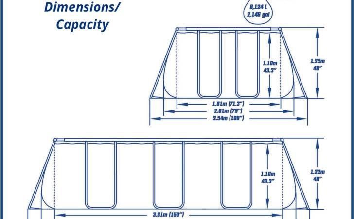 Bestway Above Ground Swimming Pool Rectangular Pro Frame Cartridge