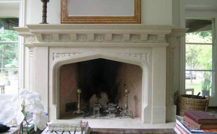 Big Fireplace Interior Large Mantle Decor
