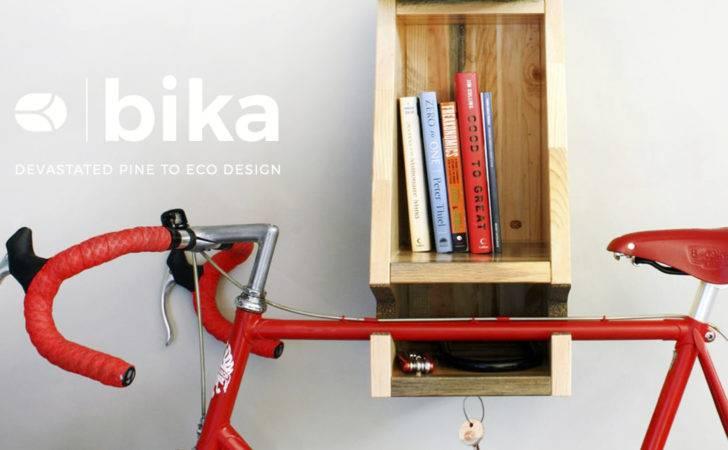 Bika First Modern Bike Rack Crafted Kill Wood Killwood