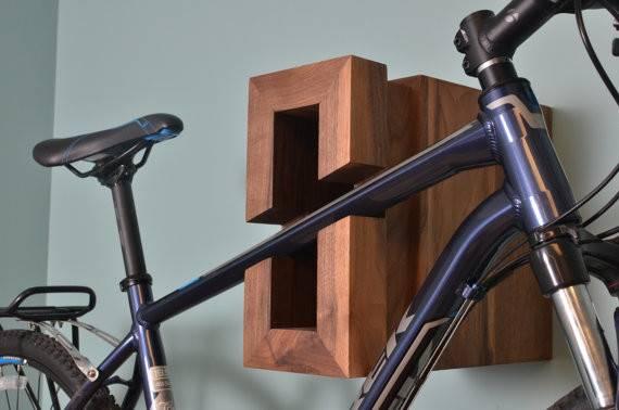 Bike Rack Modern Wood Industrialfarmhouse Etsy