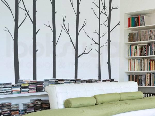 Bird Tree Decal Winter Modern Wall Looksugar