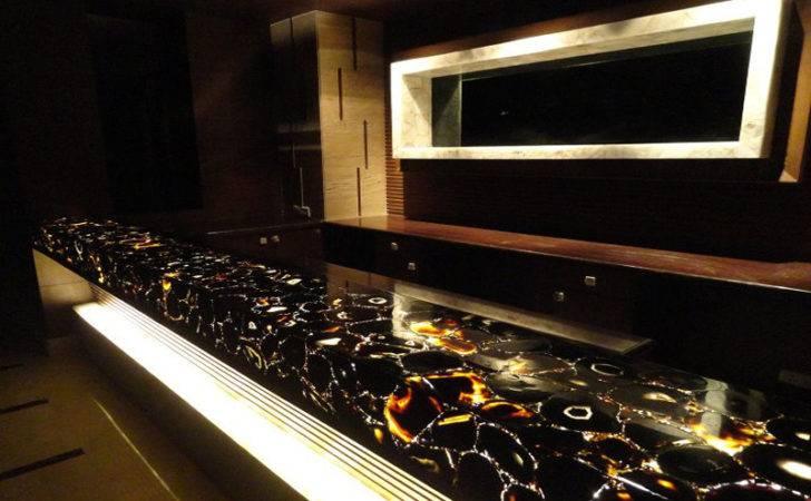 Black Agate Counter Top Blue Bar
