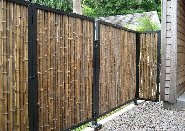 Black Bamboo Fencing Tropical Home Gates Other Metro
