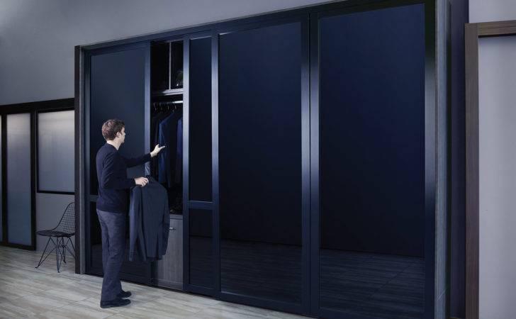 Black Glass Sliding Closet Doors Door