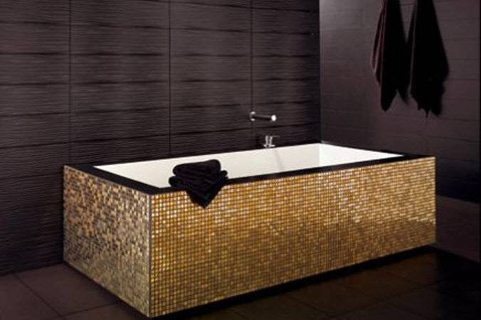 Black Gold Bathroom Tiles Ideas Below Make Your Own Royal