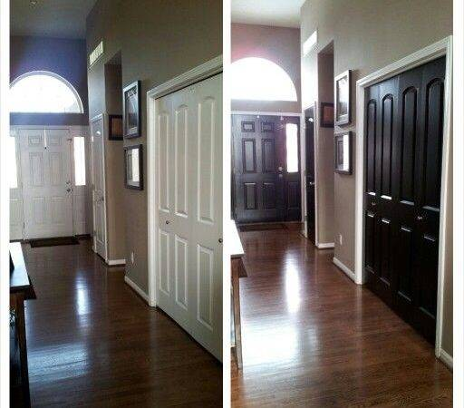 Black Interior Doors May Lighten Wall Colors