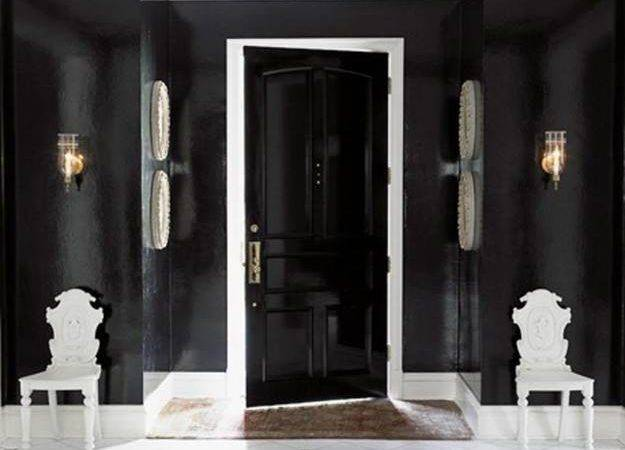 Black Interior Exterior Doors Creating Brighter Home Decorating