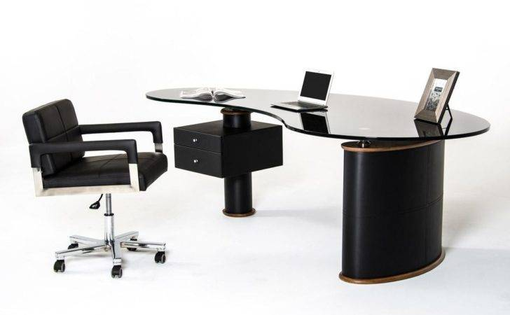 Black Office Desk Furniture Modern
