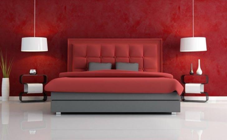 Black Red Bedroom Close