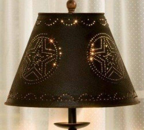 Black Star Punched Tin Lamp Shade New Shipping Ebay
