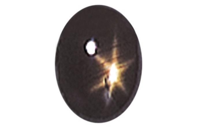 Black Star Sapphire Stone Oval