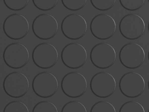 Black Studded Rubber Flooring Tiles Per Square Metre