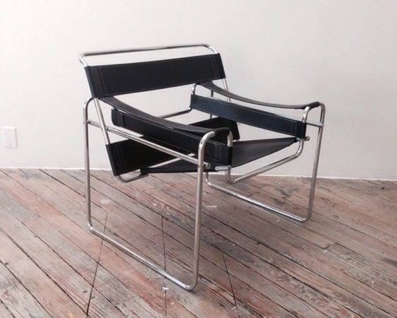 Black Wassily Chair Replica East Williamsburg Kings County