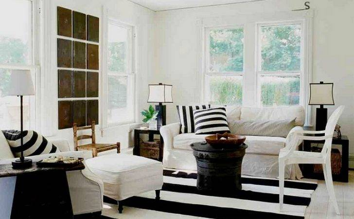 Black White Beach House Living Rooms Design Decorating