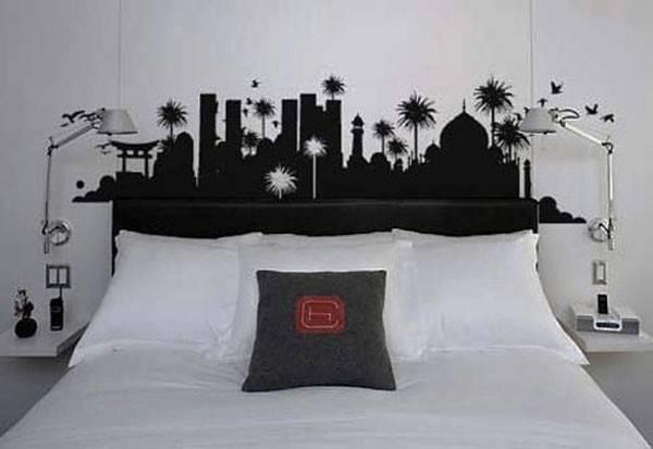 Black White Bedroom Design Ideas Wall Sticker