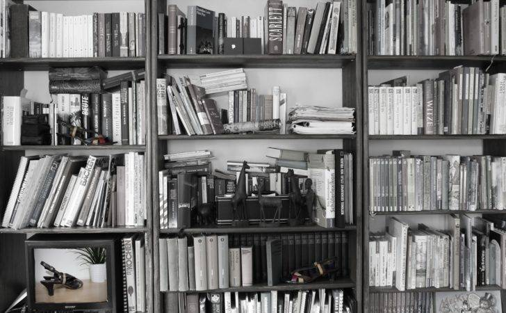 Black White Book Shelf