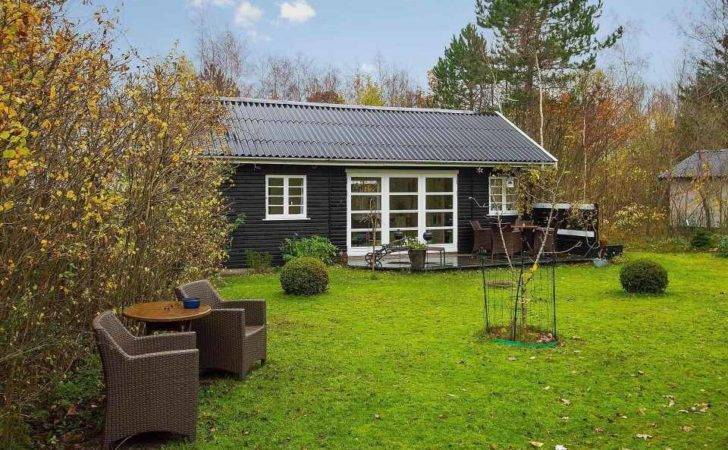 Black White Danish Summerhouse Tiny House Design