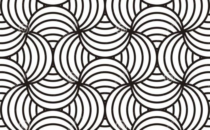 Black White Swirling Design Vector Illustration