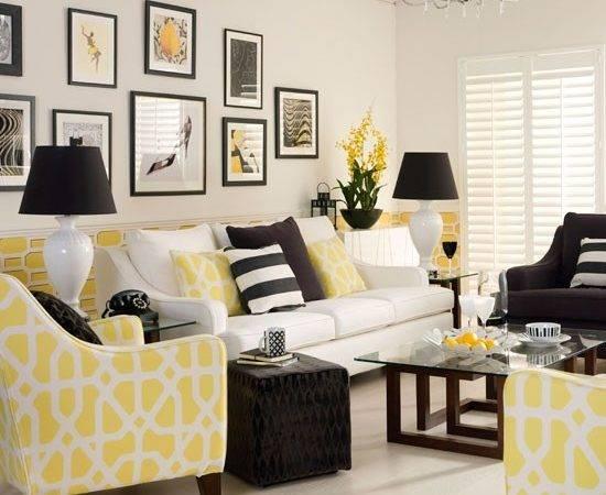 Black Yellow Living Room Ideas