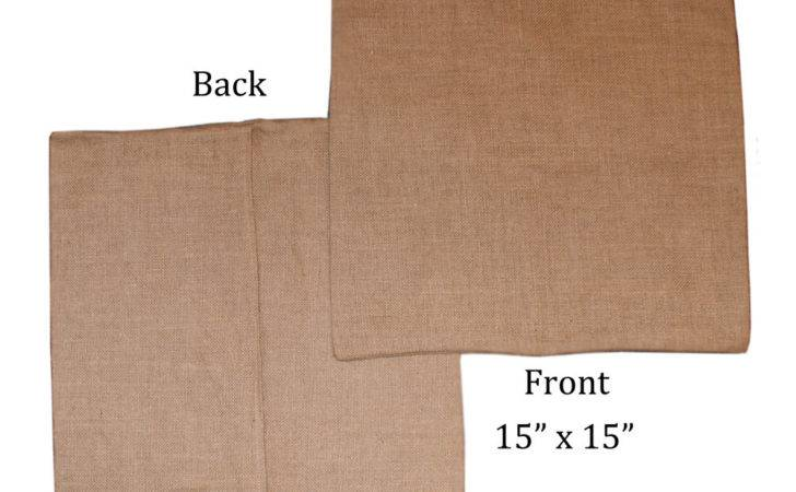 Blank Burlap Pillow Cover Diy Htv Craftchameleonstore