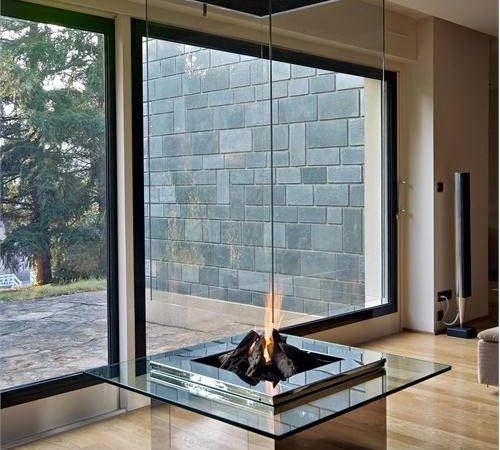 Bloch Design Glass Fireplace