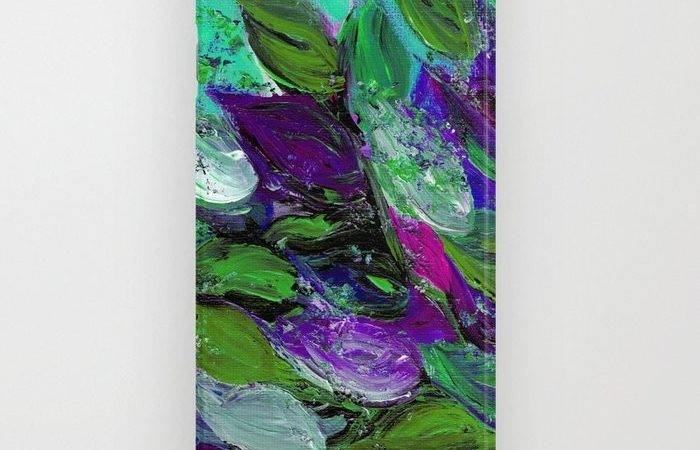 Blooming Beautiful Floral Painting Mint Green Seafoam