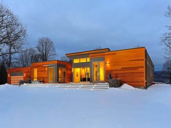Blu Home Breezehouse Prefab Front Exterior Snow