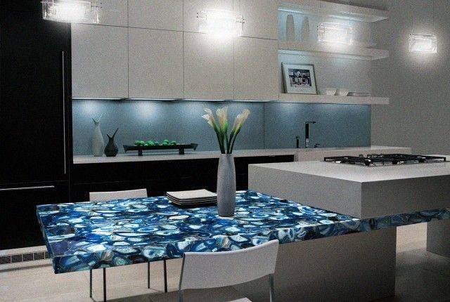 Blue Agate Kitchen Countertop