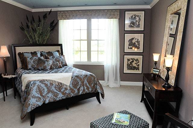 Blue Brown Bedroom Color Scheme Home Decor House Painting Interior