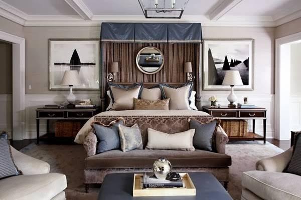 Blue Brown Bedroom Decorating Ideas Design