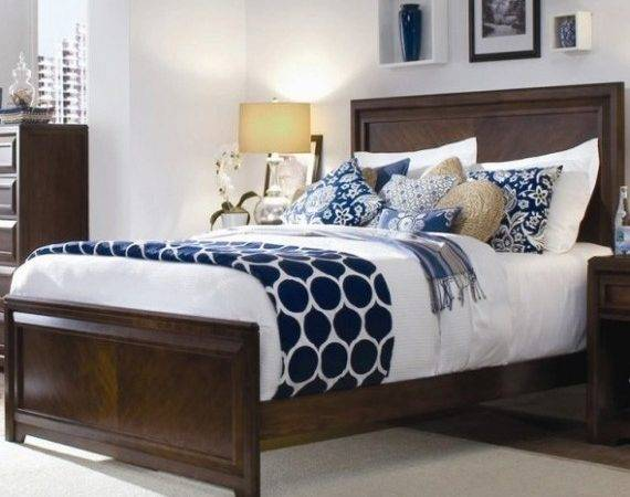 Blue Brown Bedroom Our House Pinterest Accent Colors