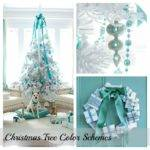 Blue Christmas Color Scheme Chip Setting Four