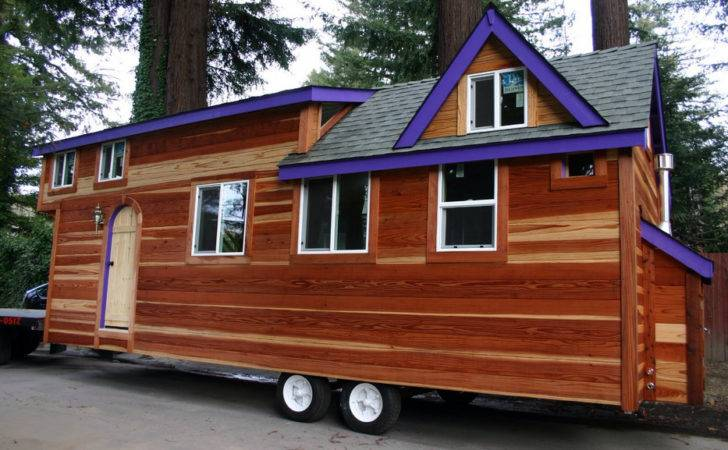 Blue Decoration Tiny House Wheels Plans Redwood
