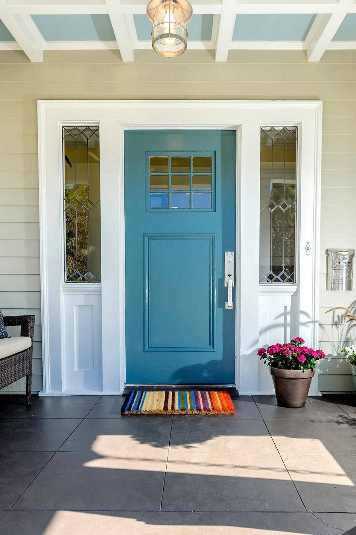 Blue Front Door Warm Friendly House