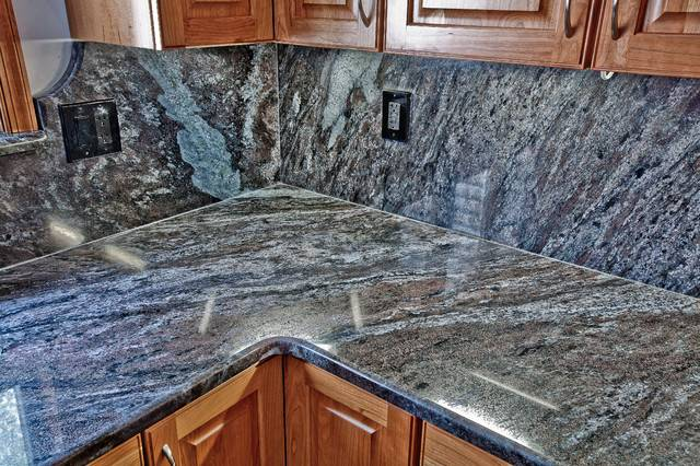 Blue Granite Kitchen Traditional Metro