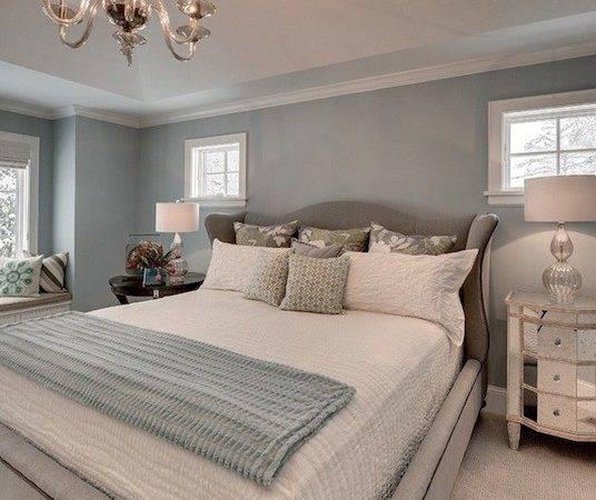 Blue Gray Bedroom Contemporary Great Neighborhood