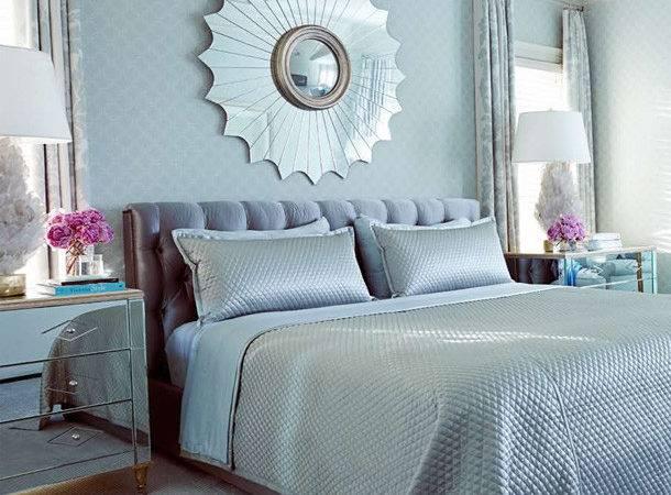 Blue Gray Master Bedroom Together Light Grey