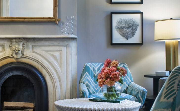 Blue Gray Walls Work Best Green Teal Accents