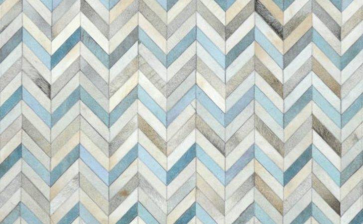 Blue Herringbone Cowhide Rug Rugs Usa More Design Pattern Carpet