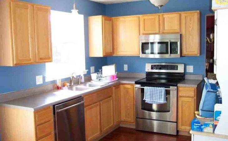 Blue Kitchen Oak Cabinets Decor Ideasdecor Ideas