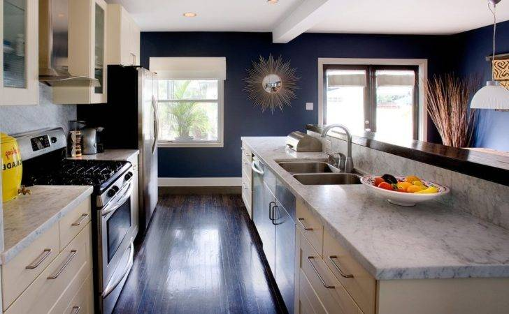 Blue Kitchen Walls Contemporary Navy Marble