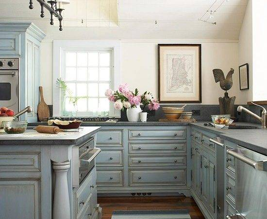 Blue Kitchen Walls Design Ideas