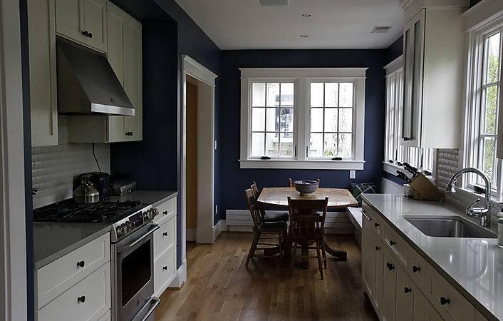 Blue Kitchen Walls White Cabinets
