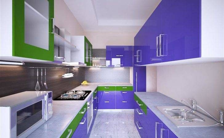 Blue Modern Modular Kitchen Design Urbanhomez