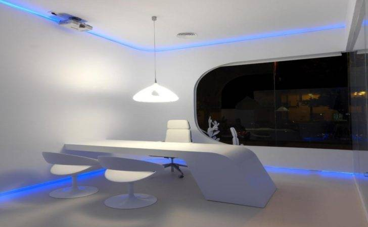 Blue Modern Office Interior Design Interiors