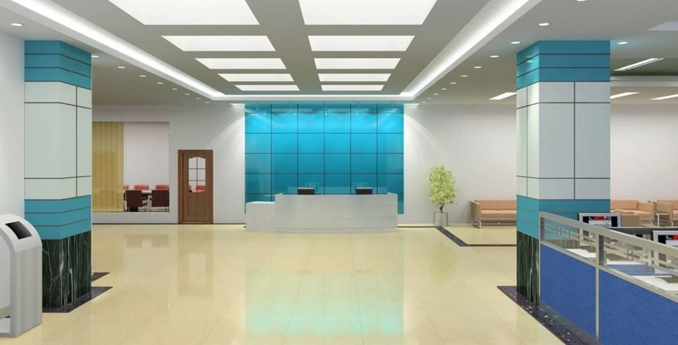 Blue Office Interior Decoration