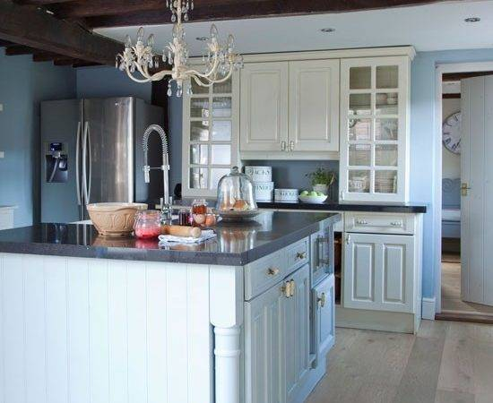 Blue Painted Country Kitchen Planning Ideas Housetohome