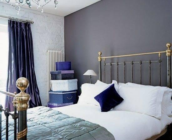 Blue Purple Gray Bedroom House Pinterest